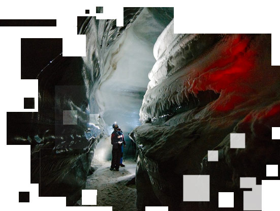 Ice cave soundscapes