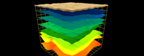 Visualisation of geological layers