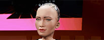 Enter new AGH UST student: Sophia the humanoid